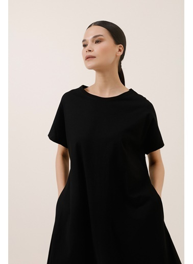 Gusto Organik Penye Elbise - Siyah Organik Penye Elbise - Siyah Siyah